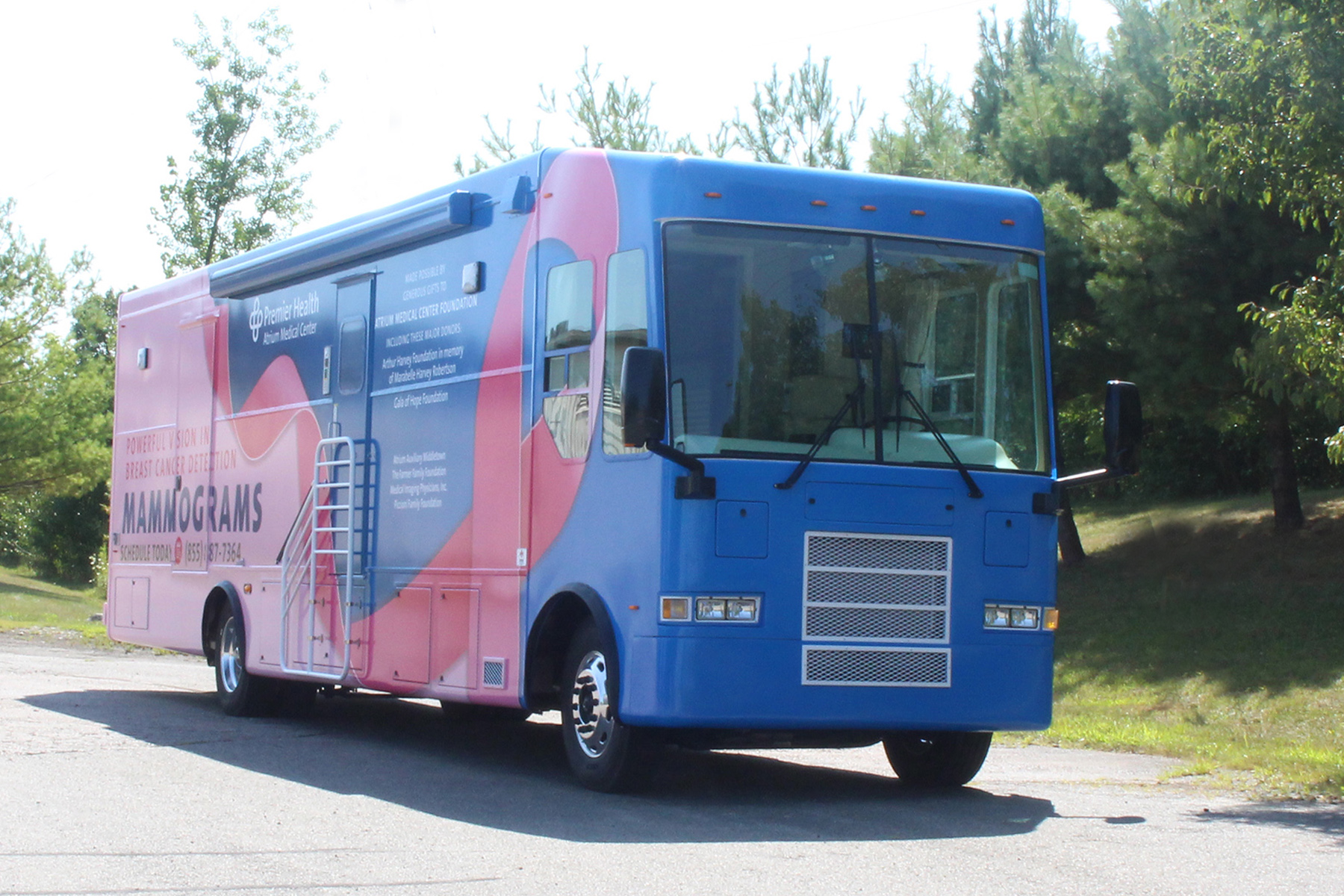 Premier Health Mobile Mammography Unit Exterior View