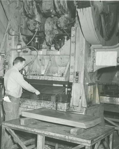 Armor Historic Photo of Worker in Shop